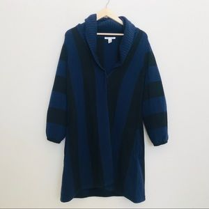 Alice and Olivia Blue Cashmere Wool Sweater SZ M